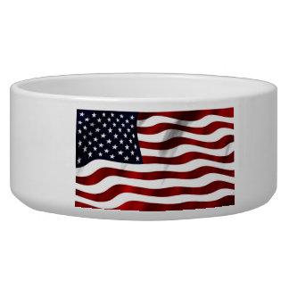 Waving American Flag Bowl
