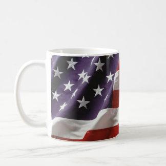 Waving American Flag Coffee Mug