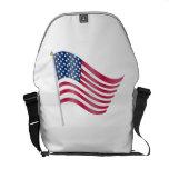 Waving American Flag Courier Bag