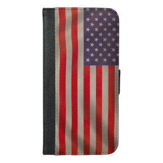 Waving American Flag iPhone 6/6s Plus Wallet Case