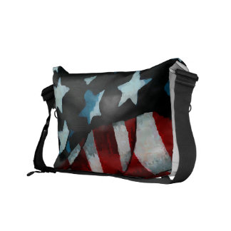 Waving American Flag Messenger Bag