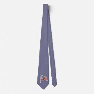 Waving American Flag Neck Tie
