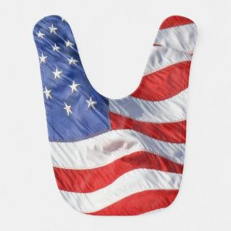Waving American Flag Patriotic Bib