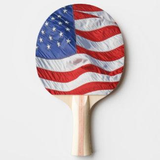 Waving American Flag Patriotic Ping-Pong Paddle