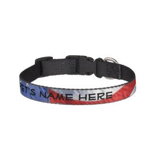 Waving American Flag Patriotic Pet Collar