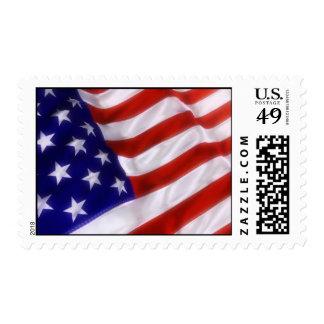 Waving American Flag Postage Stamp