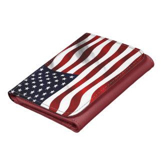 Waving American Flag Wallet