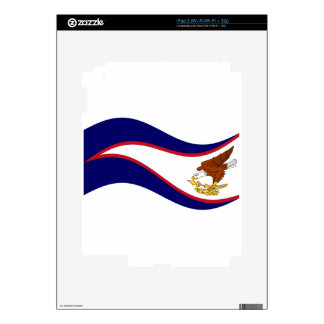 Waving American Samoa Flag iPad 2 Decal