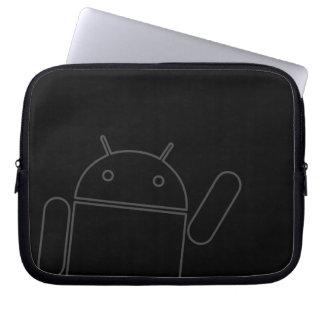 Waving Android Electronics Bag Laptop Sleeve
