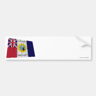 Waving Austin-Wharton-Archer Flag of Independence Bumper Stickers