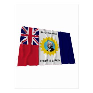 Waving Austin-Wharton-Archer Flag of Independence Postcard