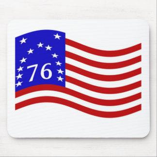 Waving Bennington 76 Flag Mouse Pad