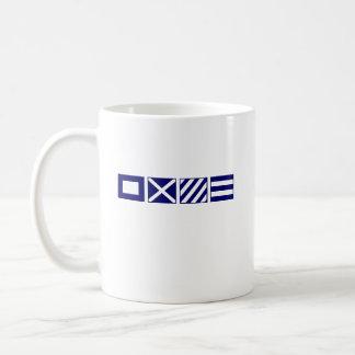 Waving burgee and PMYC signal flags Classic White Coffee Mug