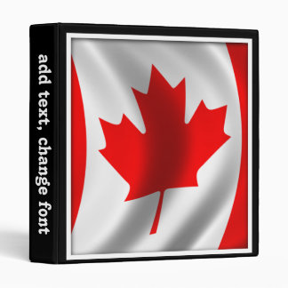 Waving Canadian Flag 3 Ring Binders