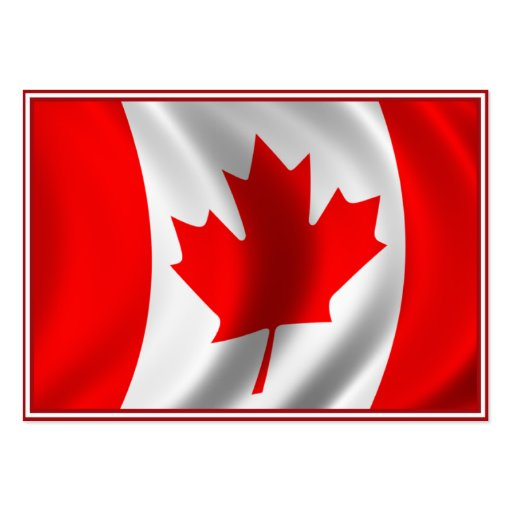 Waving Canadian Flag Business Card
