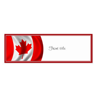 Waving Canadian Flag Business Cards