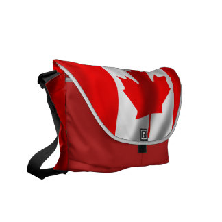 Waving Canadian Flag Courier Bag