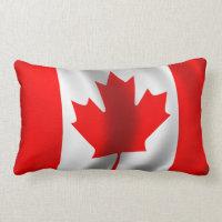 Waving Canadian Flag Lumbar Pillow