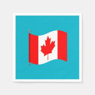 Waving Canadian Flag Napkins