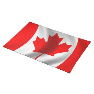 Waving Canadian Flag Placemat