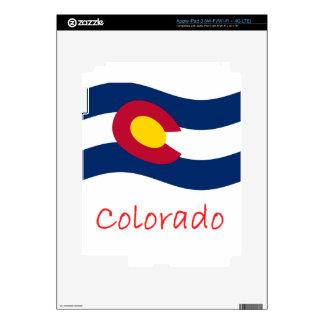 Waving Colorado Flag And Name iPad 3 Skin