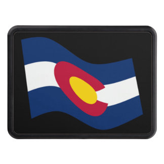 Waving Colorado State Flag Trailer Hitch Cover