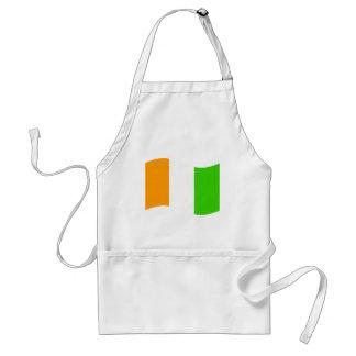 Waving Cote D'Ivoire Flag Aprons