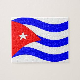 Waving Cuba Flag Puzzle