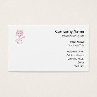 Waving Cute Baby. Business Card