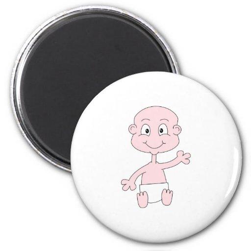 Waving Cute Baby. Fridge Magnets