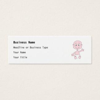 Waving Cute Baby. Mini Business Card