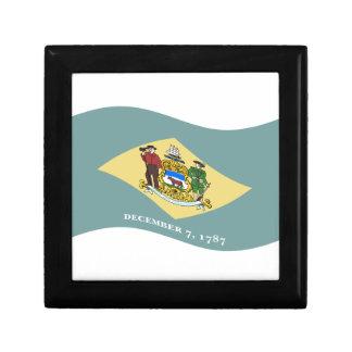 Waving Delaware Flag Trinket Boxes