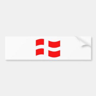 Waving Denmark Flag Bumper Sticker