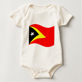 Waving East Timor Flag Rompers