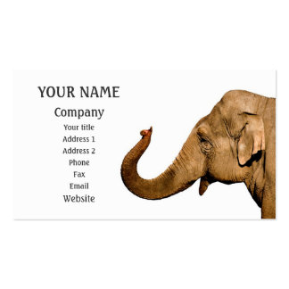 Waving elephant Double-Sided standard business cards (Pack of 100)