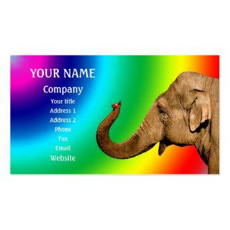 Waving elephant business card templates