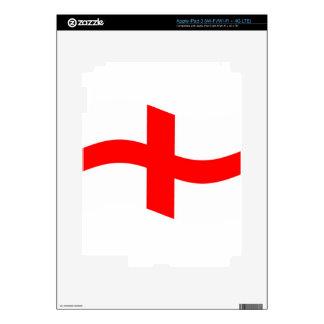Waving England Flag Skin For iPad 3