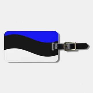 Waving Estonia Flag Tag For Luggage
