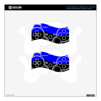 Waving Estonia Flag Skins For PS3 Controllers