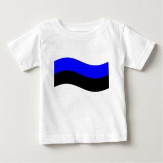 Waving Estonia Flag T-shirt