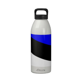 Waving Estonia Flag Reusable Water Bottle