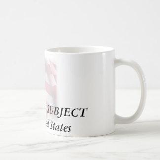 waving_faded_flag50-1085x1210, CITIZEN, not SUB... Coffee Mug