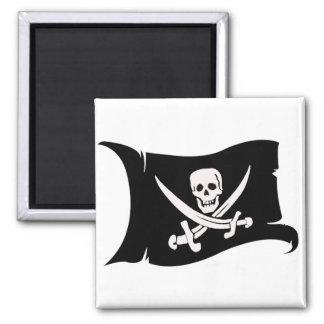 Waving Flag #10 Jack Rackham 2 Inch Square Magnet