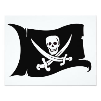 Waving Flag #10 Jack Rackham 4.25x5.5 Paper Invitation Card