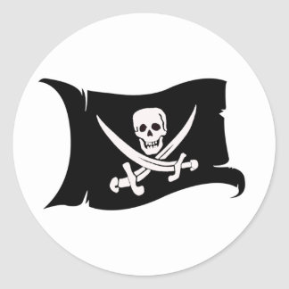 Waving Flag #10 Jack Rackham Classic Round Sticker