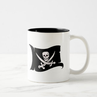 Waving Flag #10 Jack Rackham Two-Tone Coffee Mug