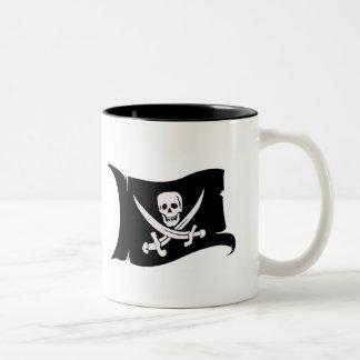 Waving Flag #10 Jack Rackham Two-Tone Coffee Mug