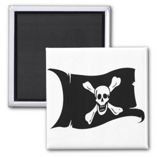 Waving Flag #12 Richard Worley 2 Inch Square Magnet