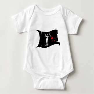Waving Flag  #1 Blackbeard Baby Bodysuit