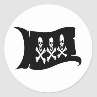 Waving Flag #2 Christopher Condent Classic Round Sticker